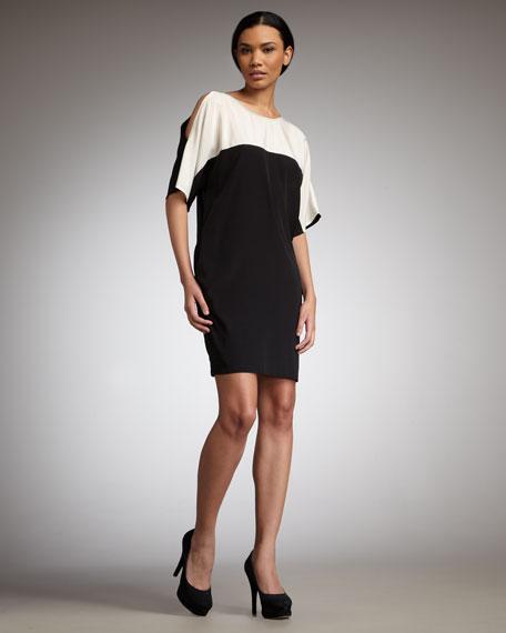Colorblock Jersey Dress
