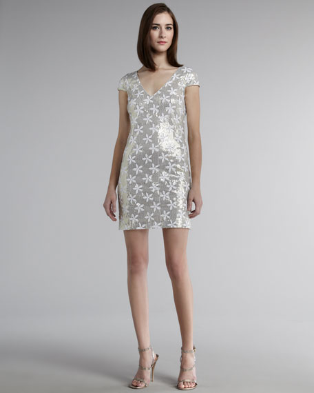 Floral Metallic Dress