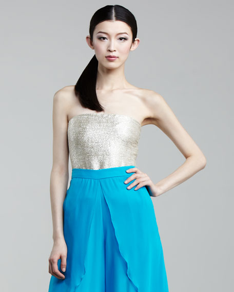 Mark + James by Badgley Mischka Metallic Bustier
