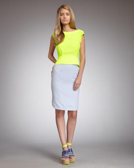 Summer Break Houndstooth Skirt