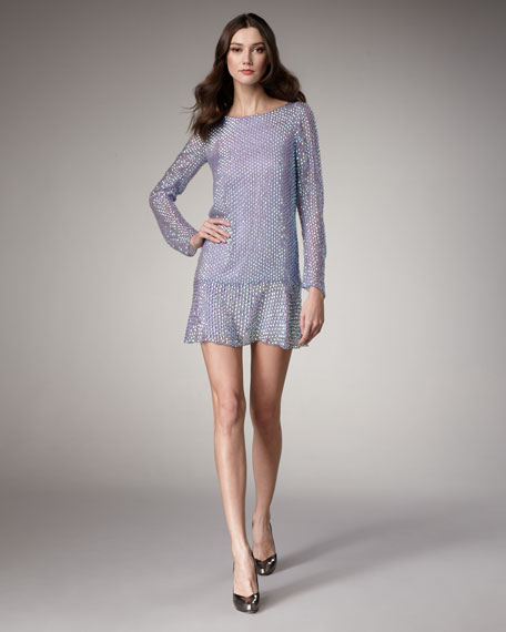 Metallic Embroidered Dress