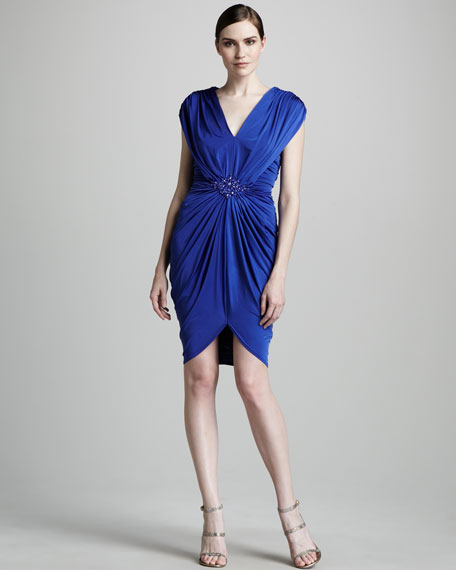 Jersey Grecian Cocktail Dress