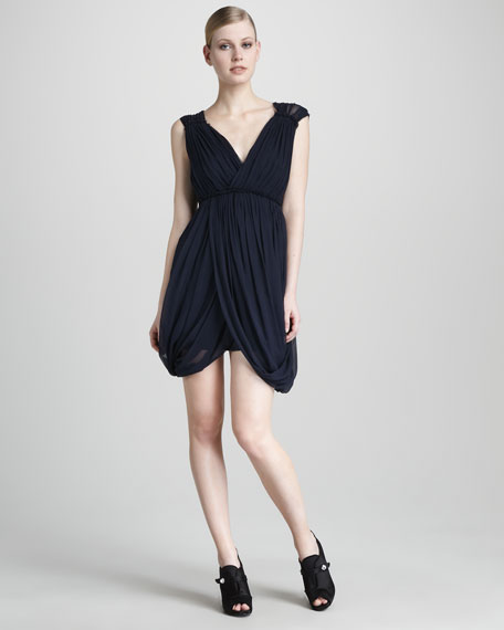 Draped Cocktail Dress