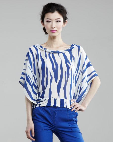 Zebra-Print Top