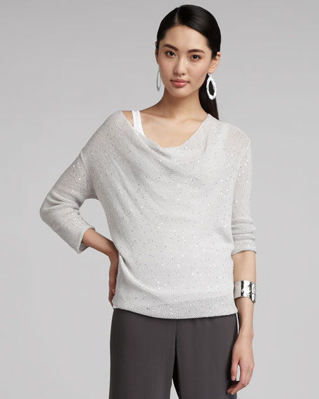 Sequined Knit Sweater
