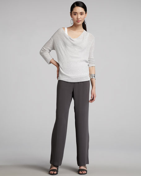 Eileen Fisher Sequined Knit Sweater, Women's