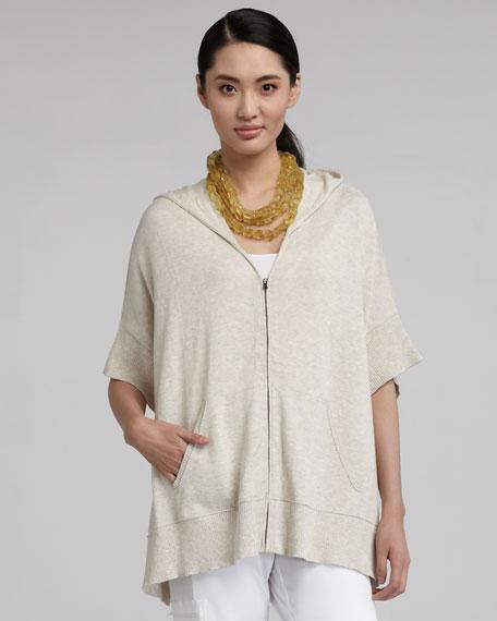 Zip Hoodie Knitting Pattern : Eileen Fisher Knit Zip Hoodie