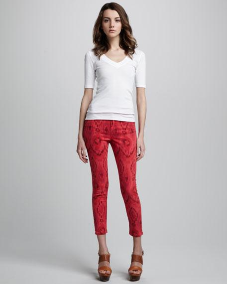 The High Water Iris Ikat-Print Jeans