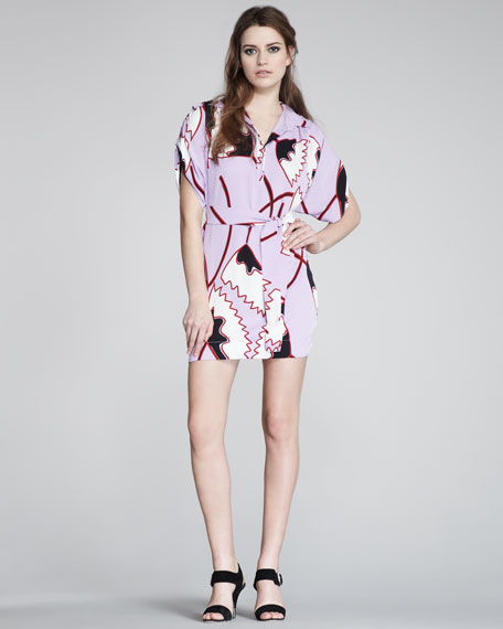 Karin Short-Sleeve Print Dress