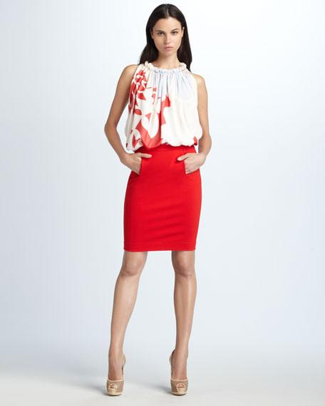Kimmie Kangaroo-Pocket Pencil Skirt