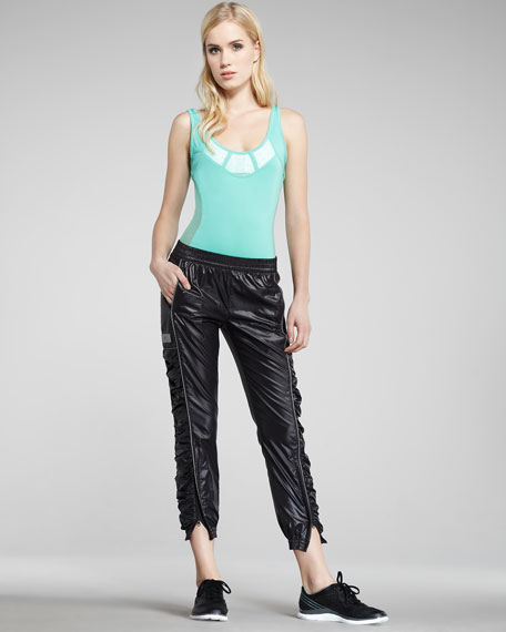 Zipper-Cuff Warm-Up Pants