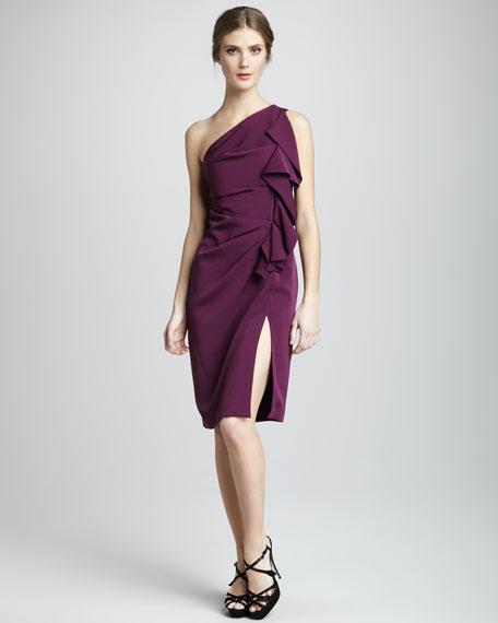 Isabella One-Shoulder Pleat Dress
