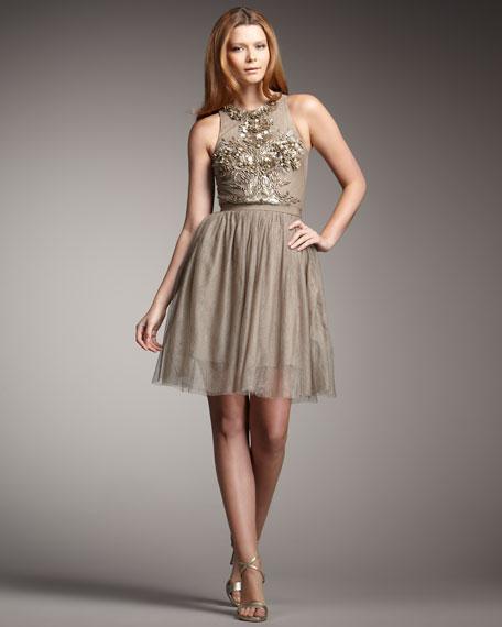 Esperanza High-Neck Dress