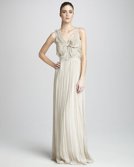 Joanna Bow-Front Silk Gown