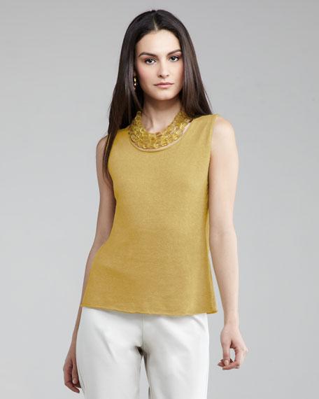 Knit Linen Shell