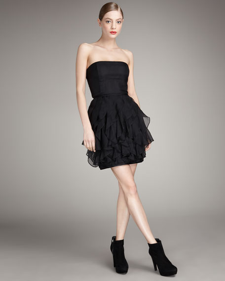 Strapless Organza Dress