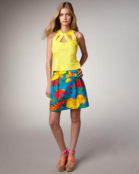 The Kahlo Floral-Print Skirt