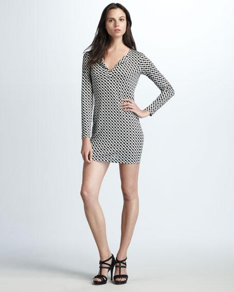 Reina Chain-Print Dress