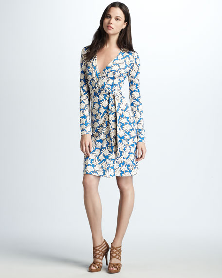 New Jeanne Coral-Print Dress