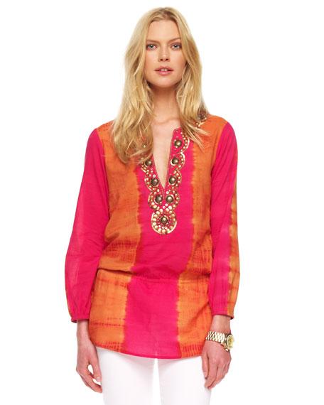 Embellished Tie-Dye Tunic
