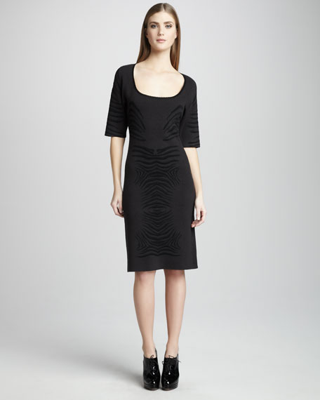 Knit Zebra Dress