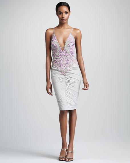 Plunging Bicolor Dress