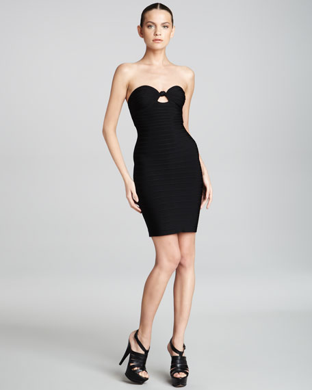 Bandeau Bandage Dress, Black