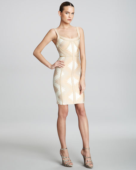 Printed Bandage Dress