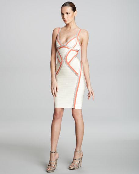 Piped Bandage Dress
