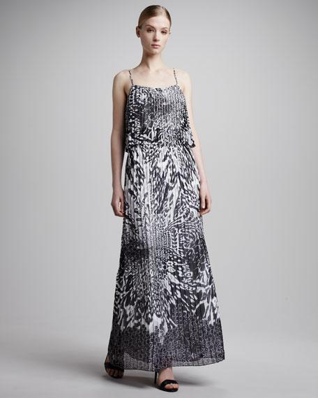 Animal-Print Sleeveless Gown