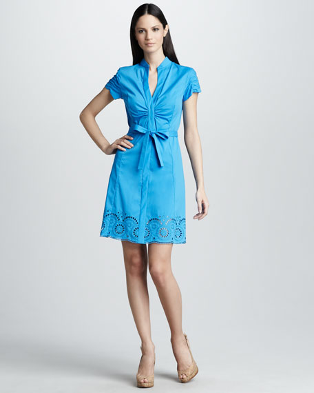Selena Dress with Ruched Sleeves