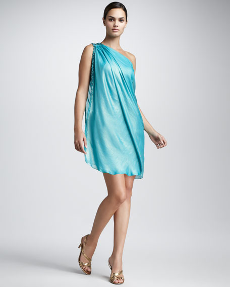 One-Shoulder Caftan Dress