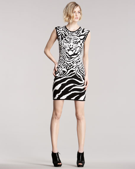 Intarsia-Knit Tiger Dress