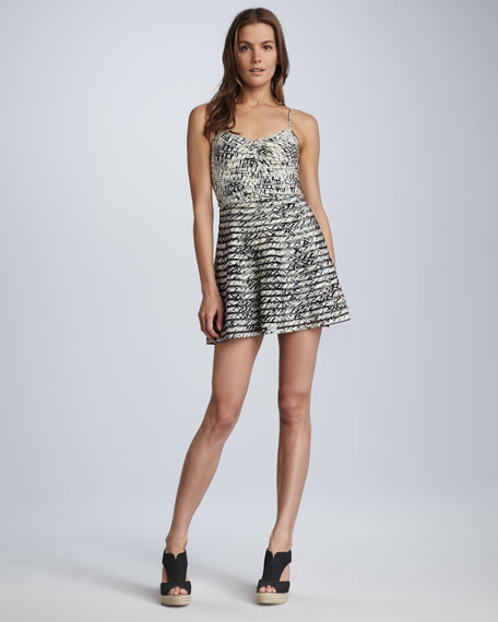 Barbwire-Print Dress