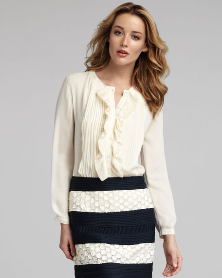 Ruffled Georgette Blouse