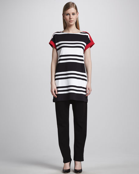 Bold-Stripe Tunic, Petite