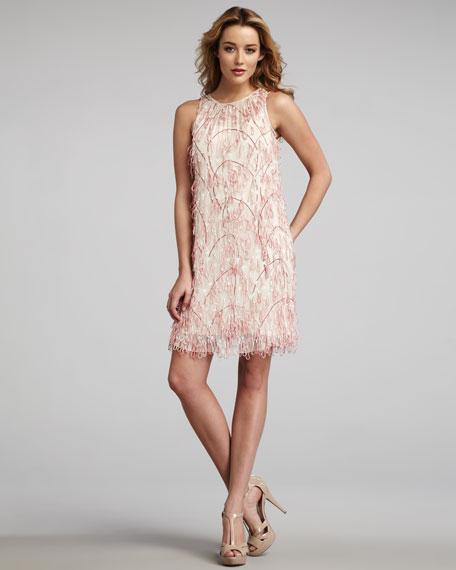 Cord-Embellished Dress