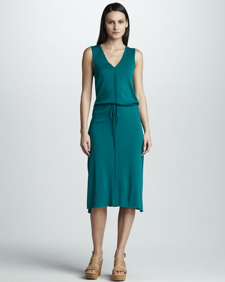 Knit Drawstring Dress