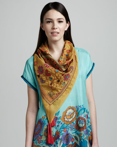 Field Embroidered Scarf