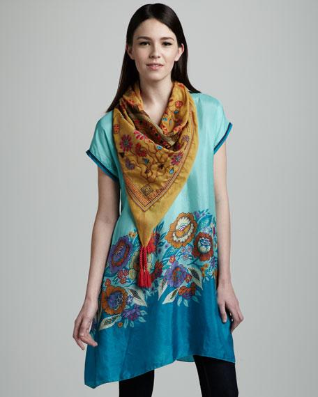 Printed Silk Tunic, Women's