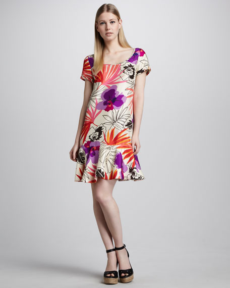 elliana floral-print dress