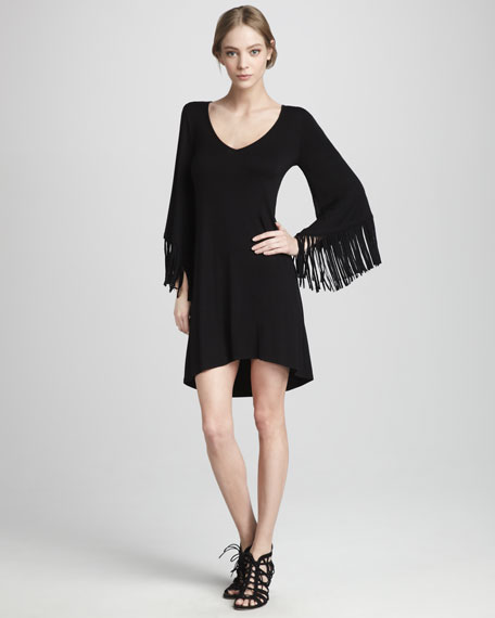 Jersey Fringe Dress
