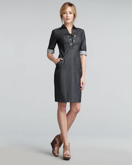 Nissa Lace-Up Dress