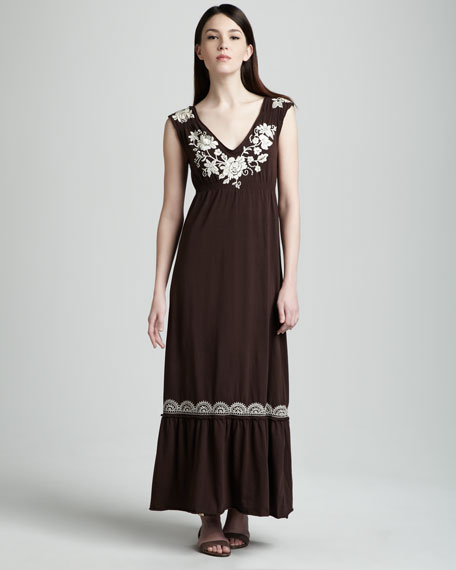 Tanya Embroidered Maxi Dress