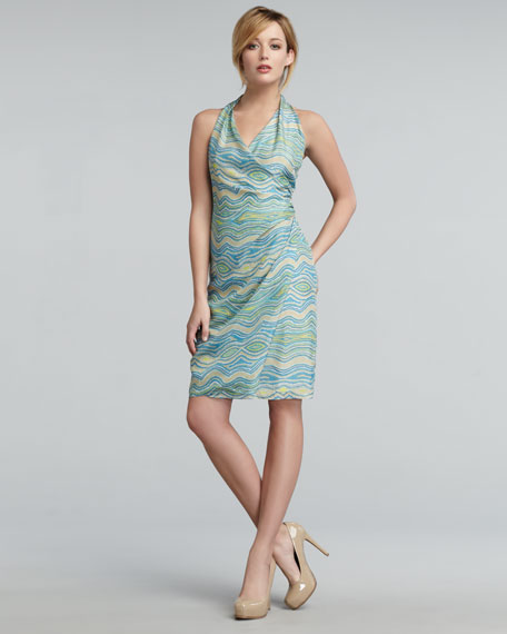 Miramare Wave-Print Dress