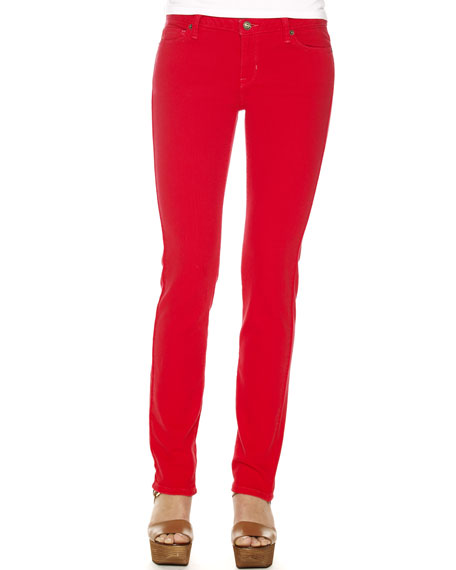 Colored Skinny Jeans, Red