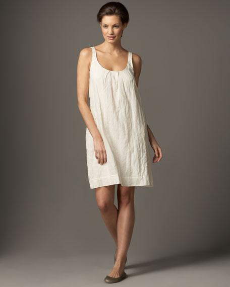 Pleated Metallic-Thread Dress, Women's