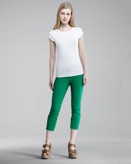 Believe Cropped Leggings, Bright Colors