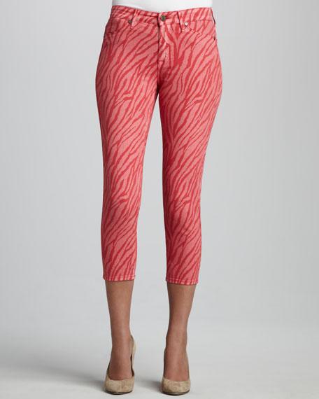 Believe Zebra-Print Cropped Leggings