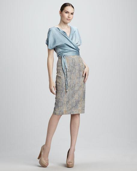 Gabby Long Pencil Skirt